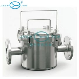 Cina Makanan / minuman Filter Industri Housing stainless steel magnetik pipa filter perumahan Distributor